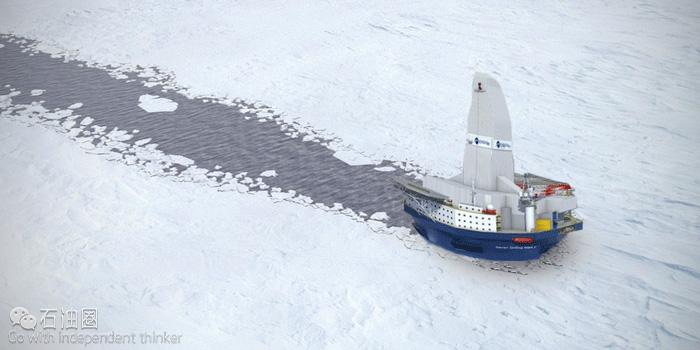 """""""圆筒型""""破冰钻井船 迎来北极开发的春天"""