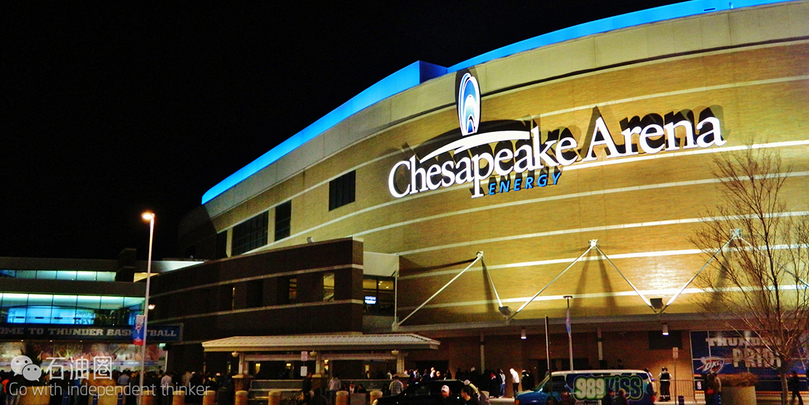 切萨皮克能源球馆(chesapeake energy arena)原名福特中心,于2002年