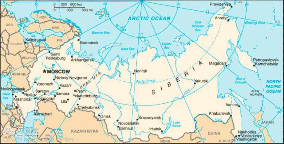 Russia地图