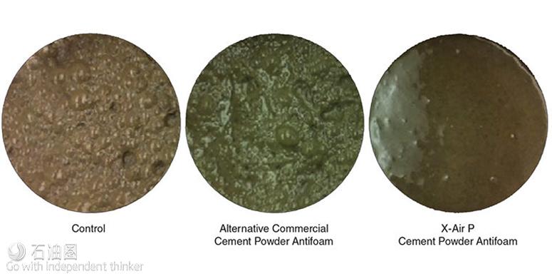 新型消泡剂减少空气混入水泥浆
