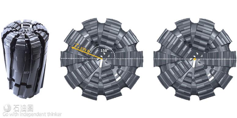 图3. 孕镶金刚石钻头非常适用于硬、研磨性地层。