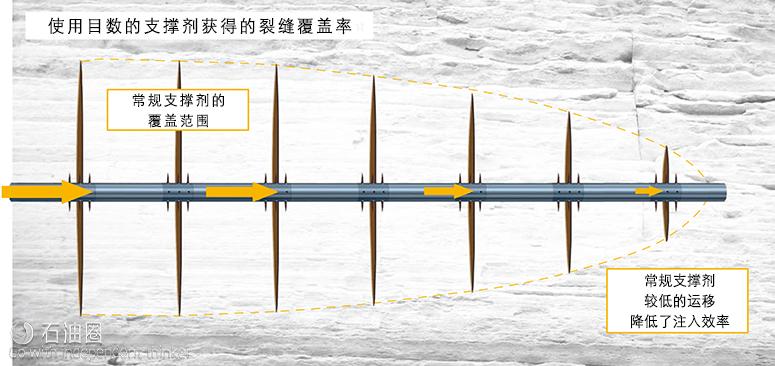 与325目NANOMITE C微型支撑剂相比,100目砂在水中的平均尺寸与沉降速度